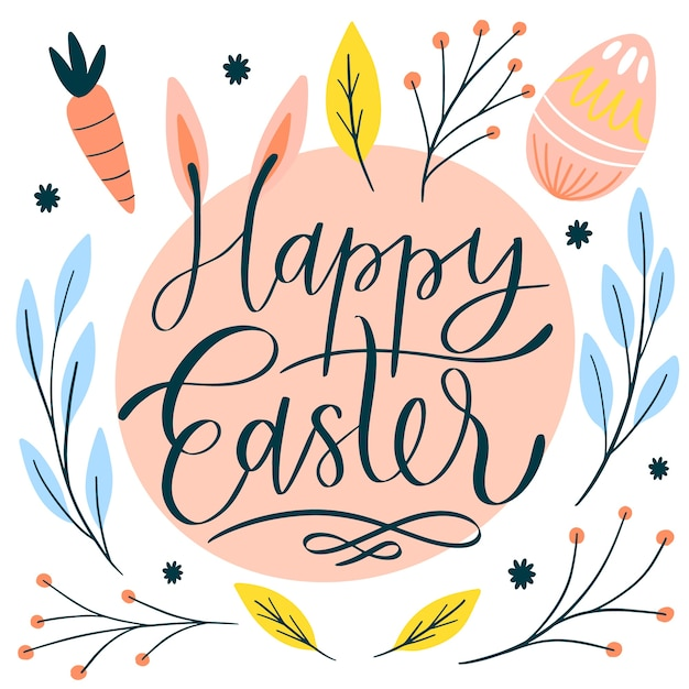 Free Vector Happy Easter Day Hand Drawn Wallpaper
