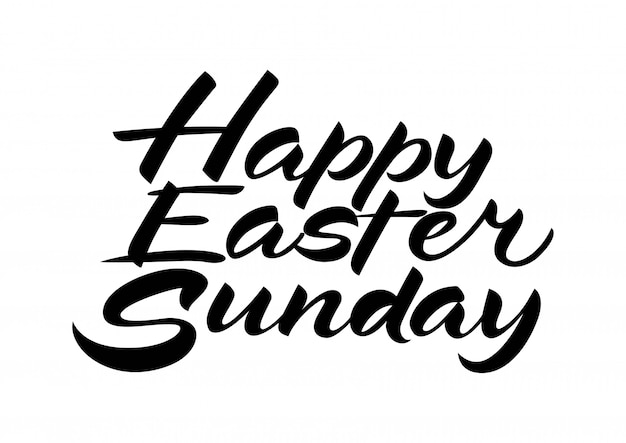 Premium Vector Happy Easter Sunday Lettering