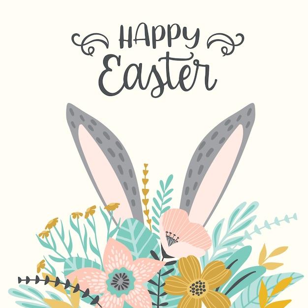 Happy Easter template Vector   Premium Download