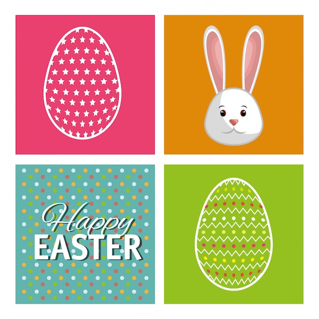Happy easter Free Vector