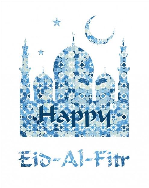 Happy eid al fitr greeting in blue tones vector free download happy eid al fitr greeting in blue tones free vector m4hsunfo