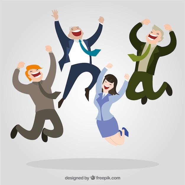 happy entrepreneurs vector free download