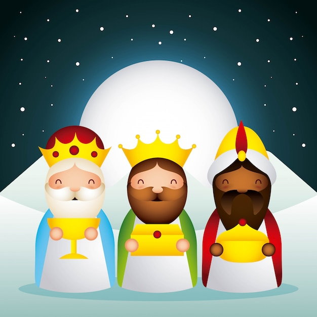 Happy epiphany related Premium Vector