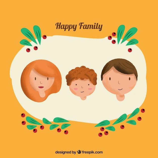 Happy family avatars
