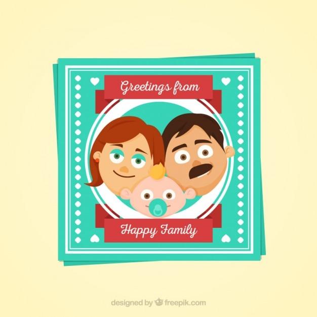 Happy family day portrair design