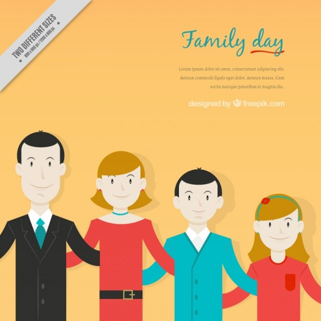 Happy family flat design