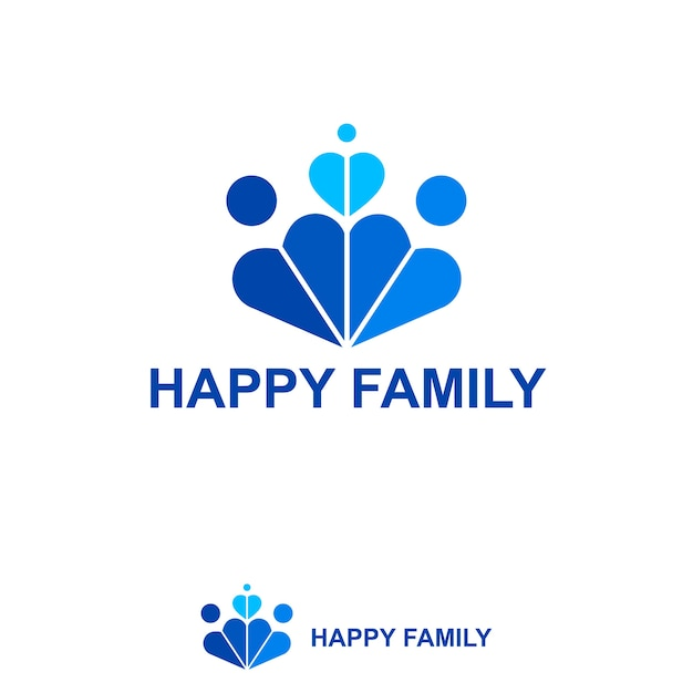 happy family logo vector premium download
