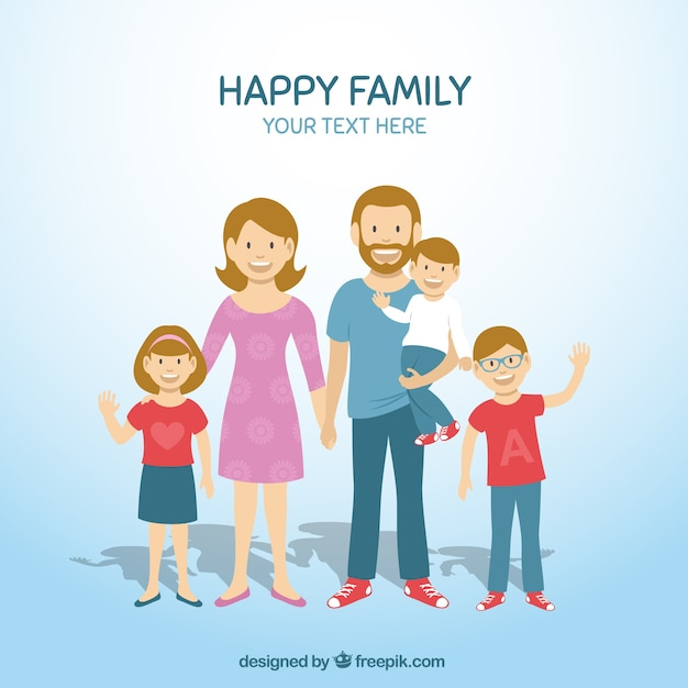 Happy family Vector | Free Download