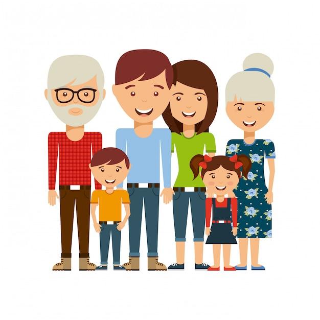 Happy family Premium Vector