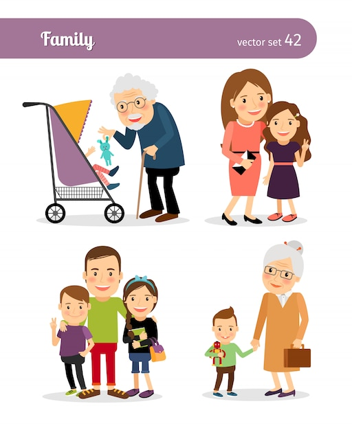 Happy family Premium Vector