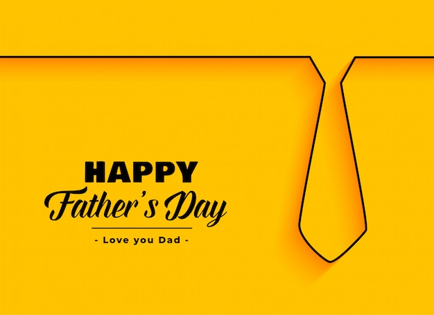 Happy father day background in minimal style Free Vector
