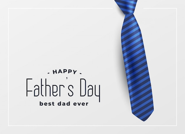 Happy father day greeting card Free Vector