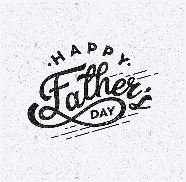 Happy father day text typography vintage vector Premium Vector