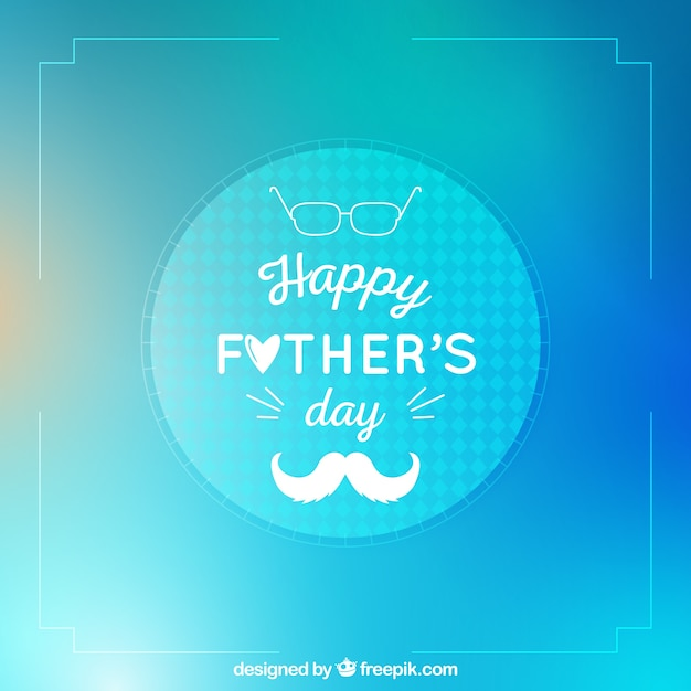 Happy father's day background in blurred style Free Vector