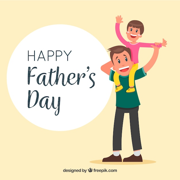 Happy father\'s day background with\ family