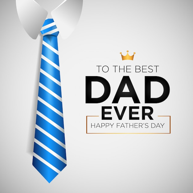 Happy father's day background with tie Premium Vector