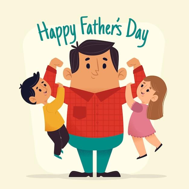 Счастливый день отца фон Бесплатные векторы