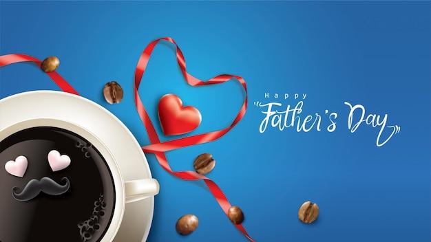 Happy father's day design with fun concept Premium Vector