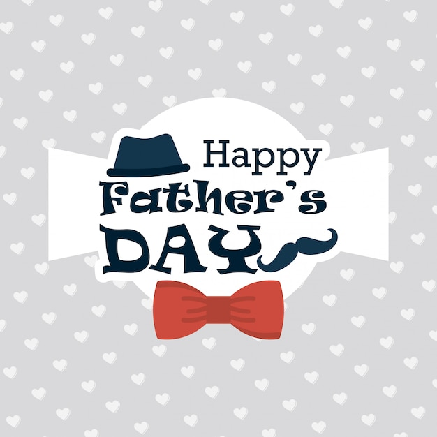 Happy fathers day greeting card with pattern background vector happy fathers day greeting card with pattern background free vector m4hsunfo