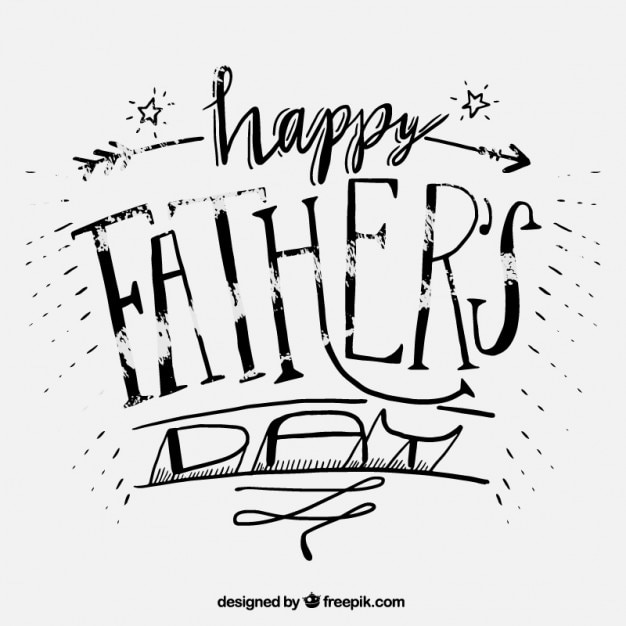 Happy father\'s day lettering in grunge\ style