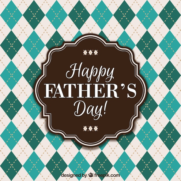 Happy father's day rhombus background Free Vector