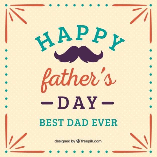 picture regarding Happy Father's Day Banner Printable known as Pleased fathers working day template Vector No cost Down load