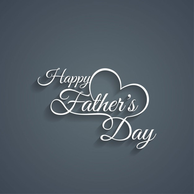Happy father's day text background Free Vector