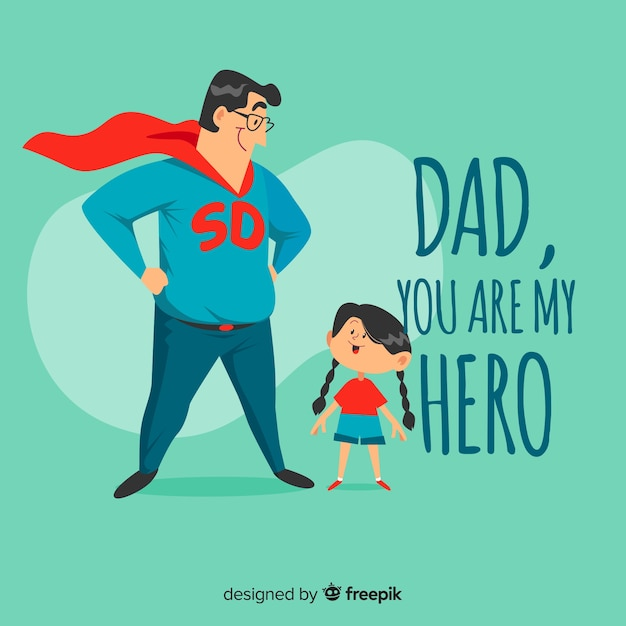 Happy father's day Free Vector