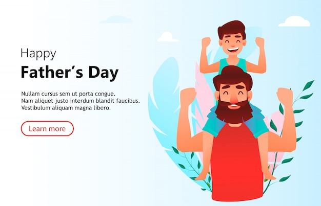 Happy father's day Premium Vector
