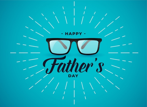 Happy fathers day banner  with spectacles Free Vector