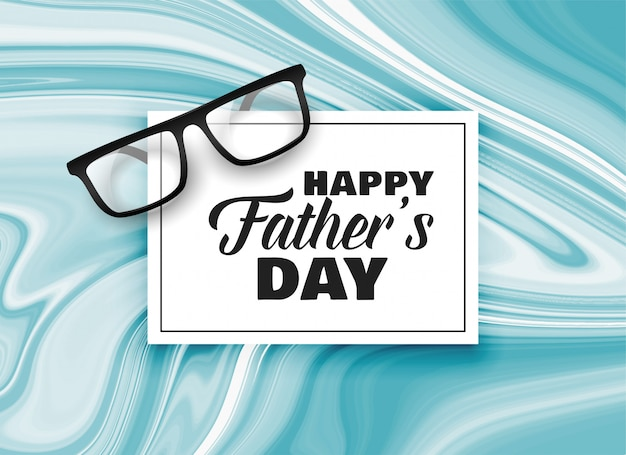 Happy fathers day card design background Free Vector