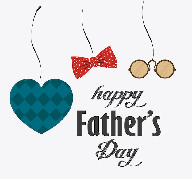 happy fathers day card design vector premium download