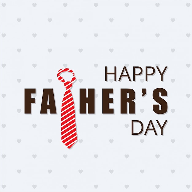 happy fathers day card with striped tie free vector