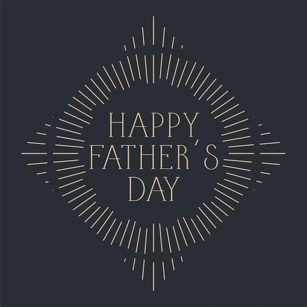 Felice festa del papà celebrazione card design Vettore gratuito