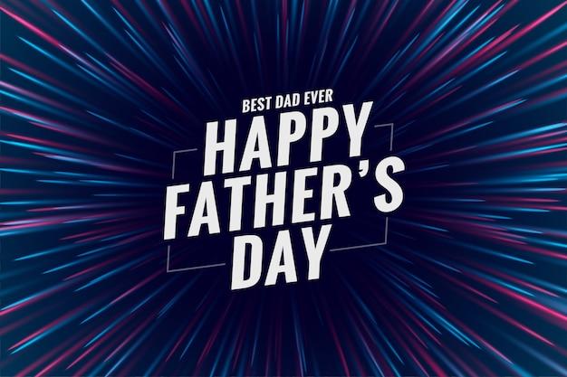 La celebrazione della festa del papà felice desidera il disegno di saluto Vettore gratuito