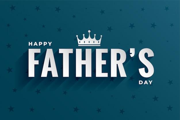 Felice festa del papà a forma di corona Vettore gratuito