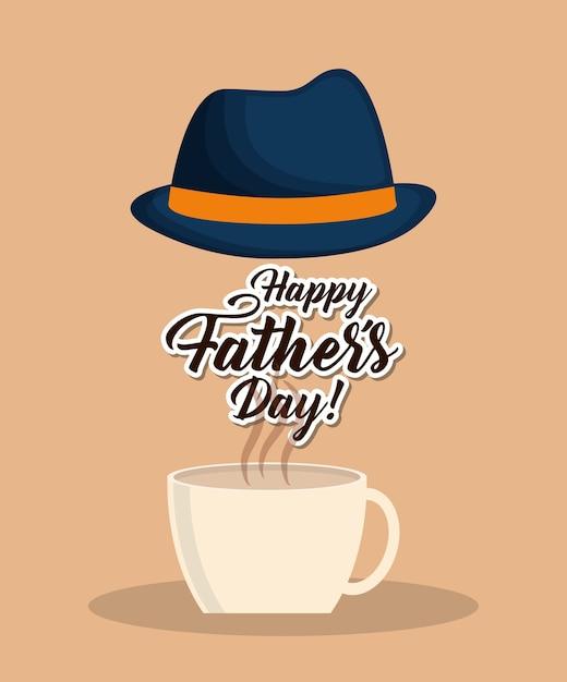 Happy fathers day design Premium Vector