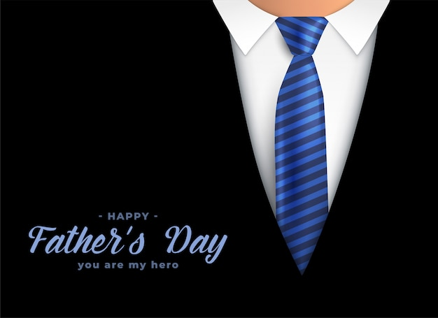 Happy fathers day hero dad background Free Vector