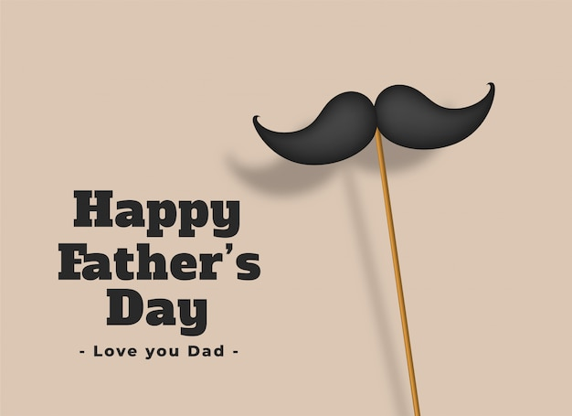 Happy fathers day love dad card Free Vector