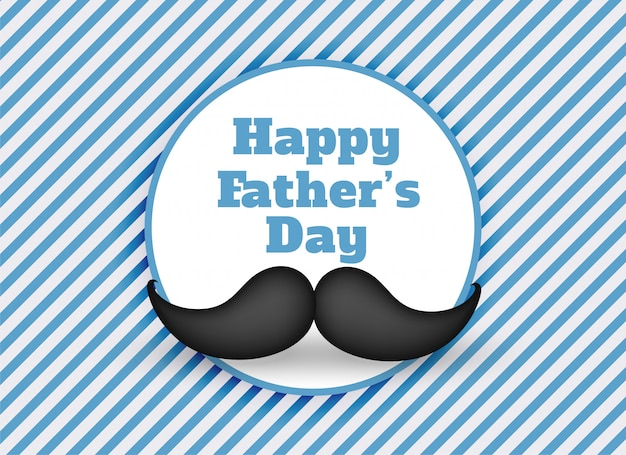Happy fathers day mustache background Free Vector