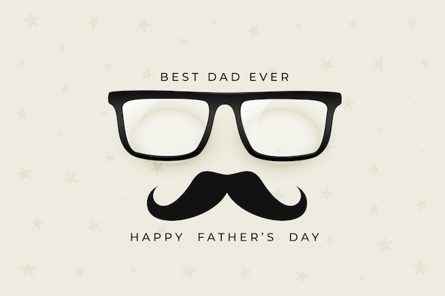Happy fathers day nice with spectacles and mustache Free Vector