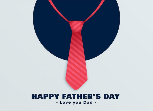 Happy fathers day red tie background Free Vector