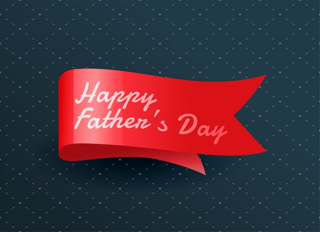 Happy fathers day ribbon Free Vector