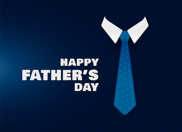 Happy fathers day shirt and tie concept background Free Vector