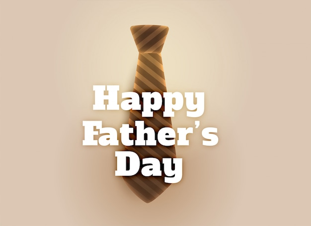 Happy fathers day tie greeting card Free Vector