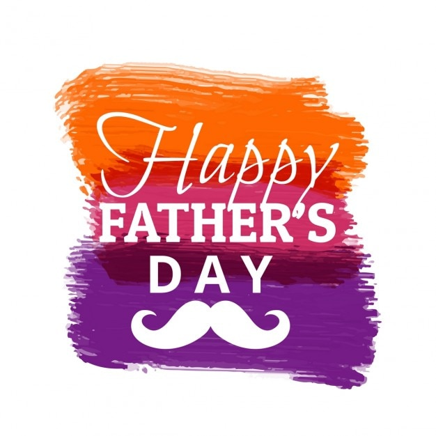 Happy fathers day with colorful paint\ strokes