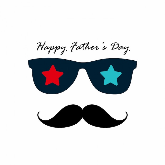 Happy fathers day with light background Free Vector