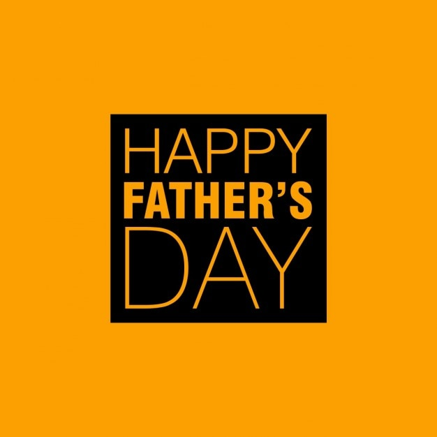 Happy fathers day yellow background | Free Vector