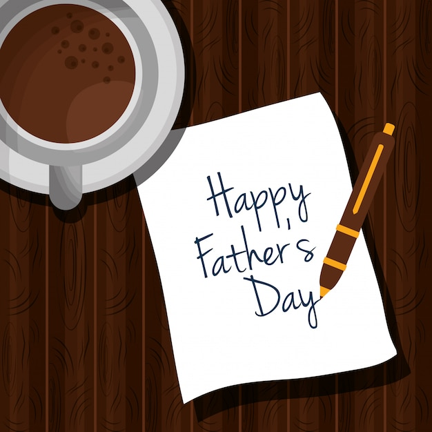 Happy fathers day Premium Vector