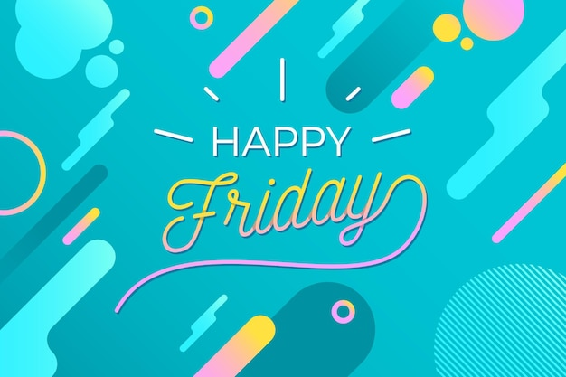 Happy friday - background Free Vector